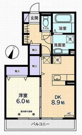 3LDK(甲府市大里町)