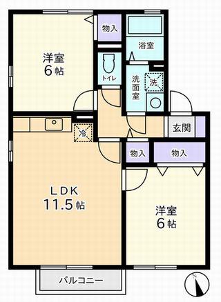 2LDK(北杜市須玉町)