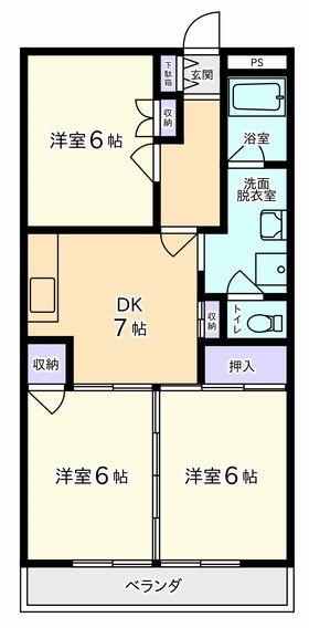 3DK(昭和町上河東)