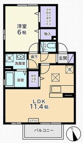 1LDK(甲府市上曽根町 )