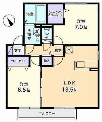 2LDK(甲府市下飯田)