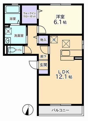 1LDK(昭和町西条新田)