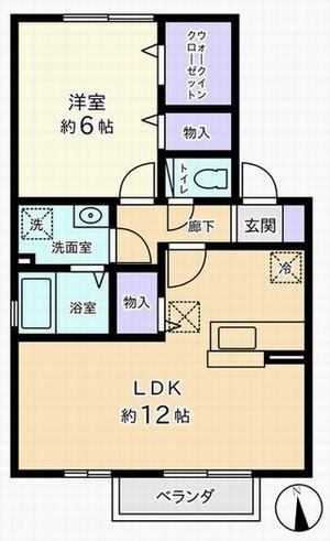 1LDK(中央市下河東)