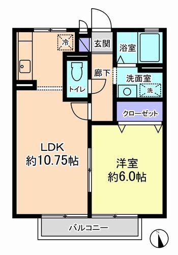 1LDK(甲府市富竹)